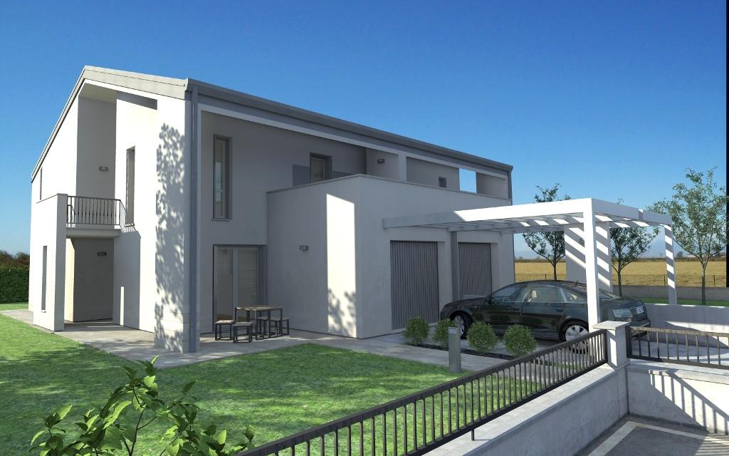 Bifamiliare romagna a s maria maddalena rovigo in via merlin doneg costruzioni - Progetto di casa moderna ...